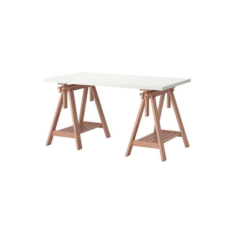 LINNMON/FINNVARD çalışma masası, beyaz-kayın, 150x75 cm