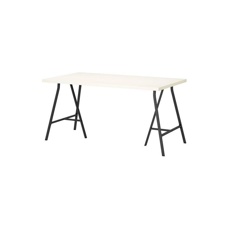 LINNMON/LERBERG çalışma masası, beyaz-gri, 150x75 cm