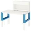 PAHL çalışma masası ve ek ünite, beyaz-mavi, 96x58 cm