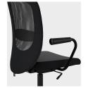 FLINTAN kolçaklı dönen sandalye, gri 74x69x102 cm