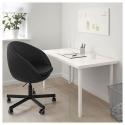 SKRUVSTA dönen sandalye, idhult siyah 69x69x79 cm