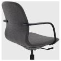 LANGFJALL kolçaklı dönen sandalye, gunnared koyu gri-siyah 67x67x92 cm