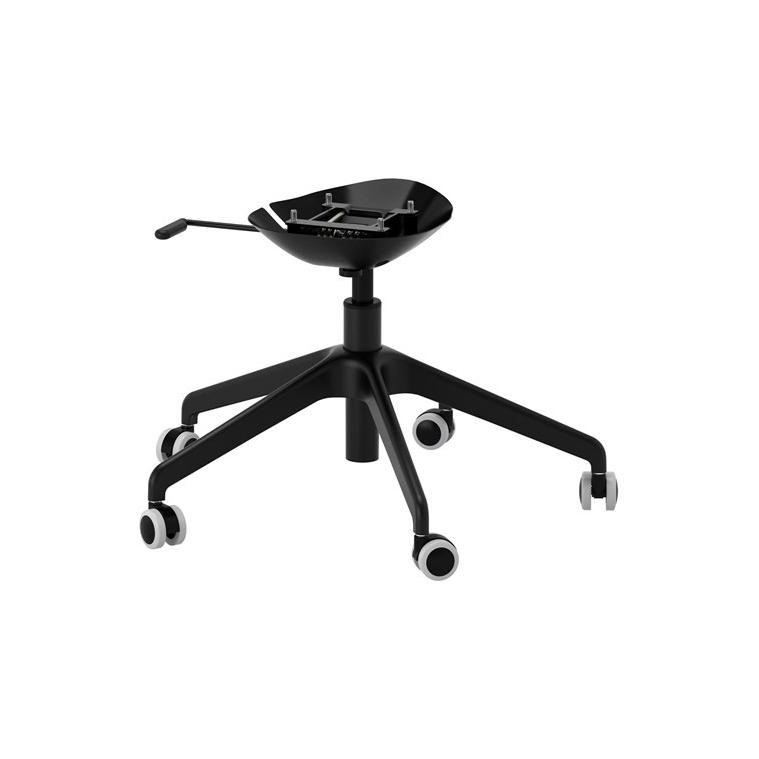 LANGFJALL dönen sandalye iskeleti, siyah, 5 ayaklı 68x68x36 cm