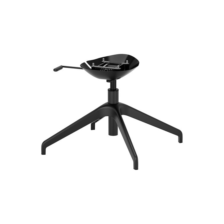 LANGFJALL dönen sandalye iskeleti, siyah, 4 ayaklı 67x67x36 cm