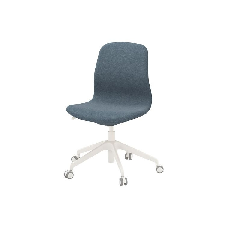 LANGFJALL dönen sandalye, gunnared mavi-beyaz 68x68x92 cm