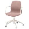 LANGFJALL dönen sandalye, gunnared açık kahverengi-pembe-beyaz 68x68x92 cm