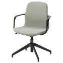 LANGFJALL dönen sandalye, gunnared açık yeşil-siyah 67x67x92 cm
