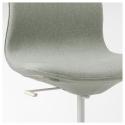 LANGFJALL dönen sandalye, gunnared açık yeşil-beyaz 67x67x104 cm