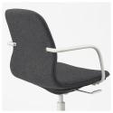 LANGFJALL dönen sandalye, gunnared koyu gri-beyaz 67x67x92 cm