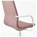 LANGFJALL dönen sandalye, gunnared açık kahverengi-pembe-beyaz 68x68x104 cm