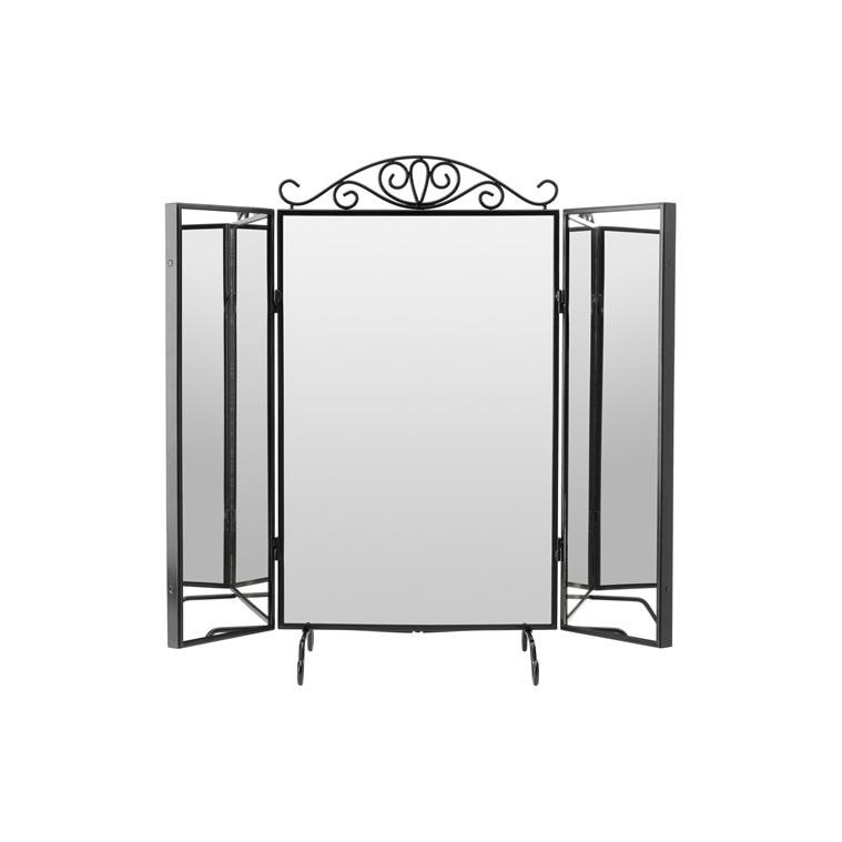 KARMSUND masa aynası, siyah, 80x74 cm