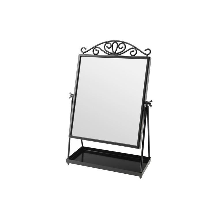 KARMSUND masa aynası, siyah, 27x43 cm