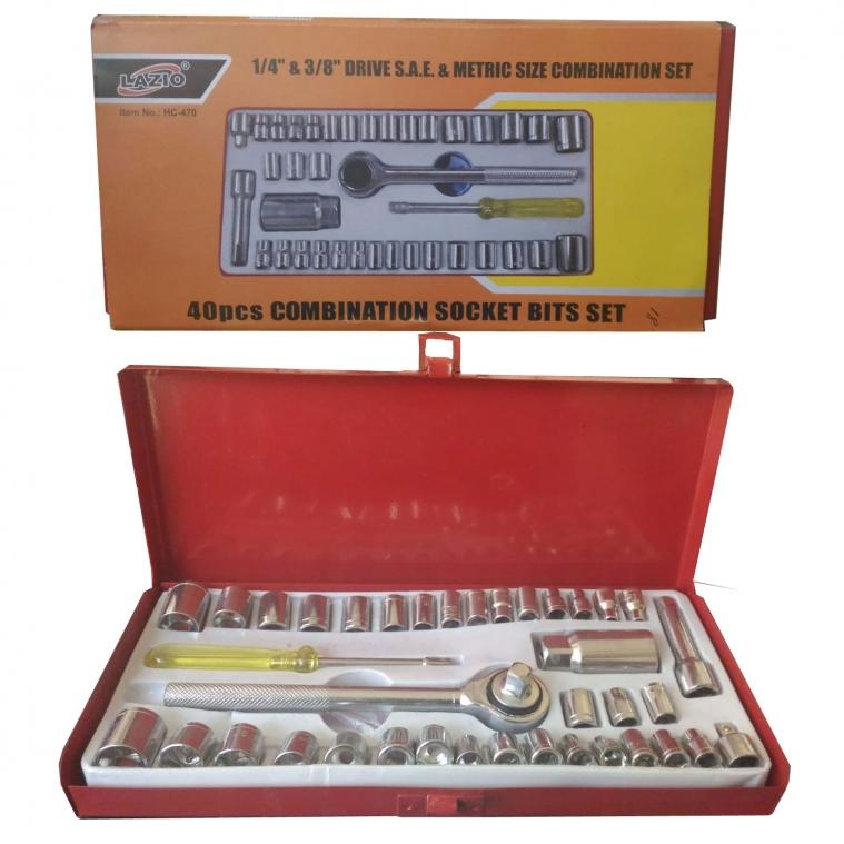Lazıo 40 Parça Cır Cır Lokma Takımı Metal Çantalı HC-470