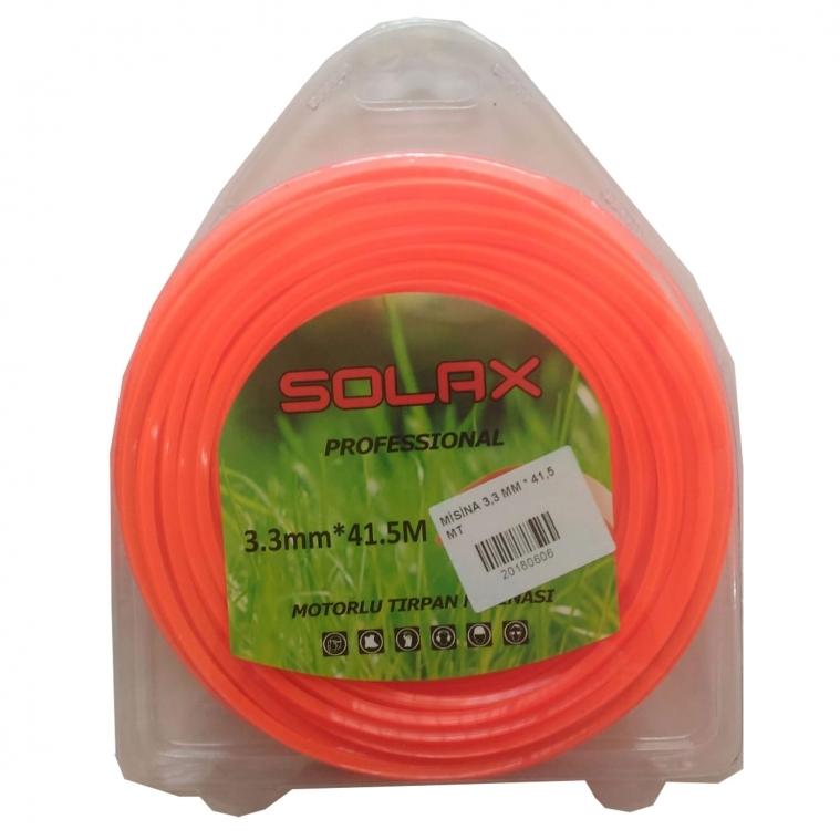 SOLAX Kare Misina Çim Biçme Makinası Misinası 3,3mm 41,5 Metre