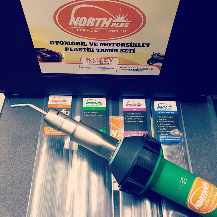 NORTH Araç Tampon Tamir Kiti Sıcak Plastik Onarım Plastik Kiti Kaynak Makinesi