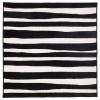 URSKOG halı, siyah-beyaz, 133x133 cm