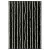 GÖRLÖSE halı, siyah-beyaz, 133x195 cm