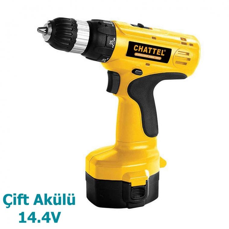 Chattel 14.4V Çift Akülü Vidalama CHT4014