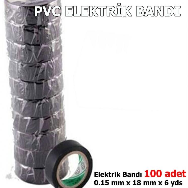 KIRGIL LÜX PVC ELEKTRİK BANDI SİYAH 100 ADET ELEKTRİKÇİ BANTI SİYAH