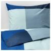 BRUNKRISSLA çift kişilik nevresim takımı, mavi-gri, 240x220/50x60 cm