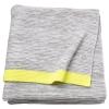 LISAMARI örtü, açık gri-sarı, 130x170 cm