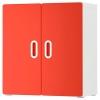 STUVA/FRITIDS duvar dolabı, beyaz-kırmızı, 60x30x64 cm