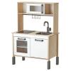 DUKTIG mini mutfak, beyaz-huş, 72x40 cm