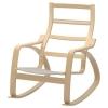 POANG sallanan koltuk iskeleti, huş kaplama 68x94x95 cm