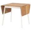 IKEA PS 2012 açılabilen yemek masası, bambu-beyaz, 74/106/138x80 cm