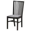 NORRNAS sandalye, siyah-isunda gri 42x53x94 cm