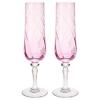 KONUNGSLIG şampanya kadehi, pembe, 26 cl