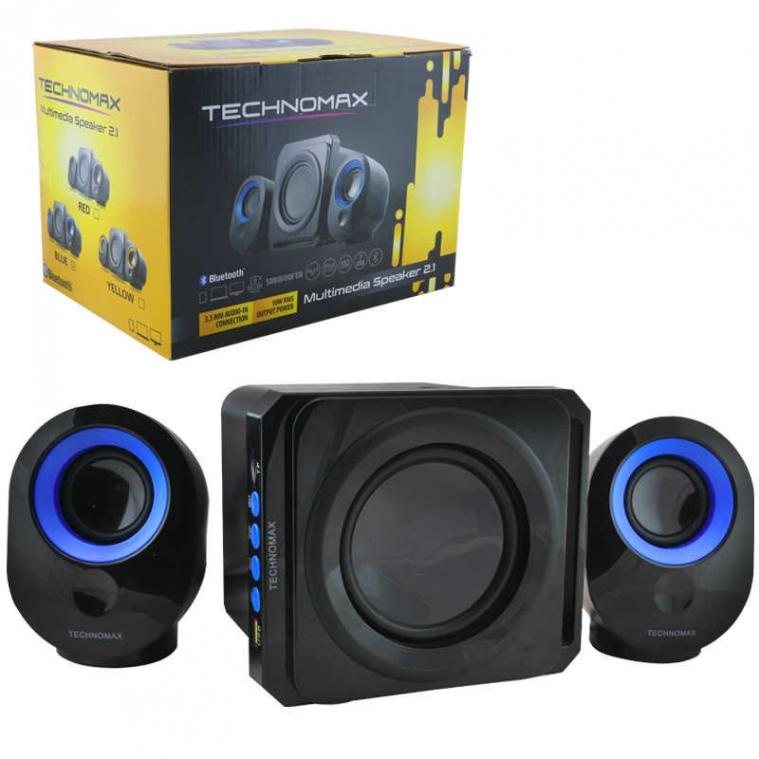 TECHNOMAX 2x1 Bluetooth Hoparlör Anfi Ses sitemi Aux, Fm, Sd, Usb