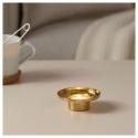 GLITTRIG tealight mumluk, altın rengi, 3 cm