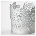 SAMVERKA tealight mumluk, beyaz, 8 cm