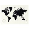 MÖLLTORP planlama tahtası, dünya haritası, 95x67 cm