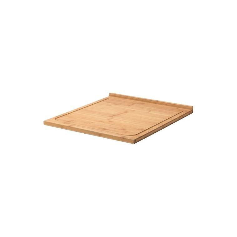 LAMPLIG kesme tahtası, bambu, 46x53 cm
