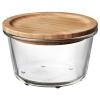 IKEA 365+ saklama kabı, yuvarlak cam-bambu, 600 ml