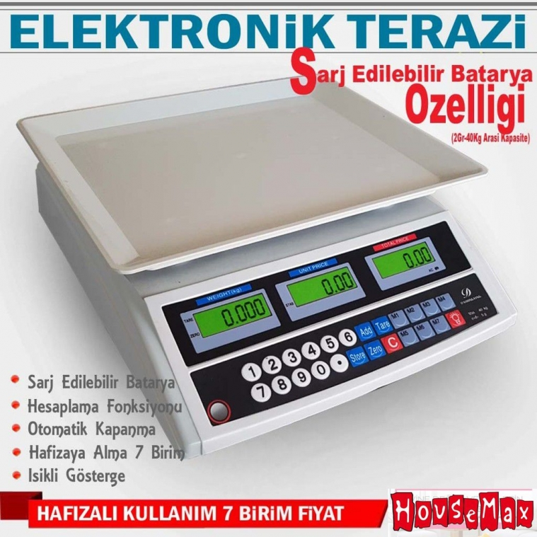 Dijital Hassas Elektronik Terazi 40 KG