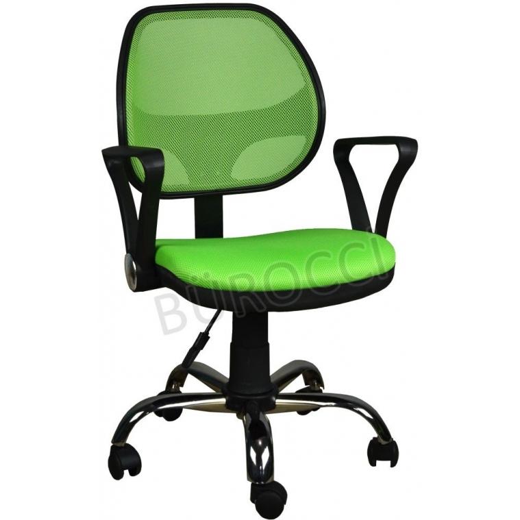 2077G0543 - Bürocci Fileli Çalışma Koltuğu-Yeşil File