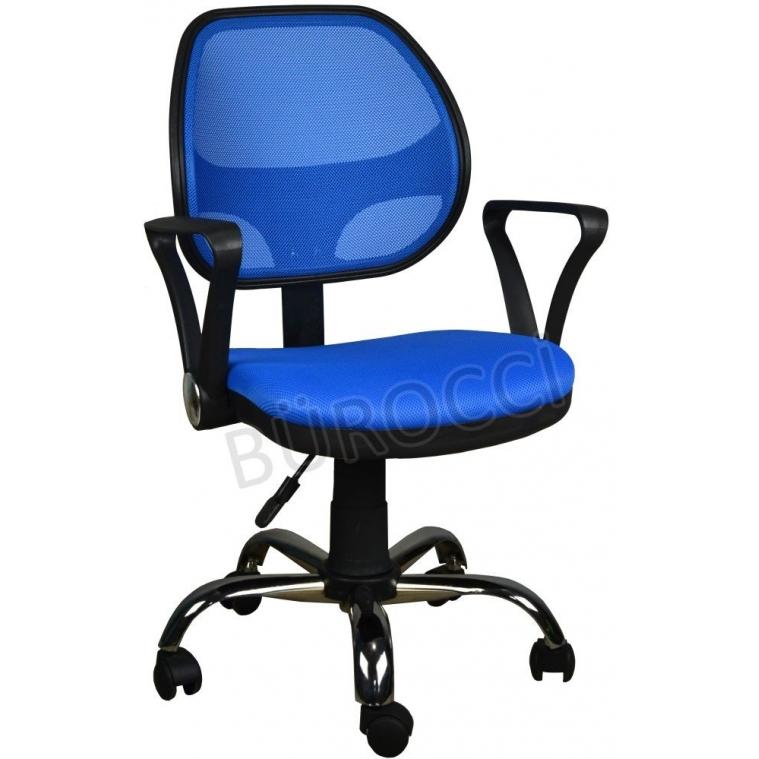 2077G0542 - Bürocci Fileli Çalışma Koltuğu-Mavi File