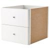 KALLAX çekmeceli kutu, beyaz, 33x33 cm