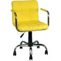 9503D0113 - Bürocci Carla Çalışma Koltuğu-Sarı Deri