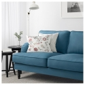 STOCKSUND 2'li kanepe, ljungen mavi-siyah-ahşap 154x95x89 cm
