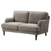 STOCKSUND 2'li kanepe, nolhaga gri-siyah 154x95x89 cm