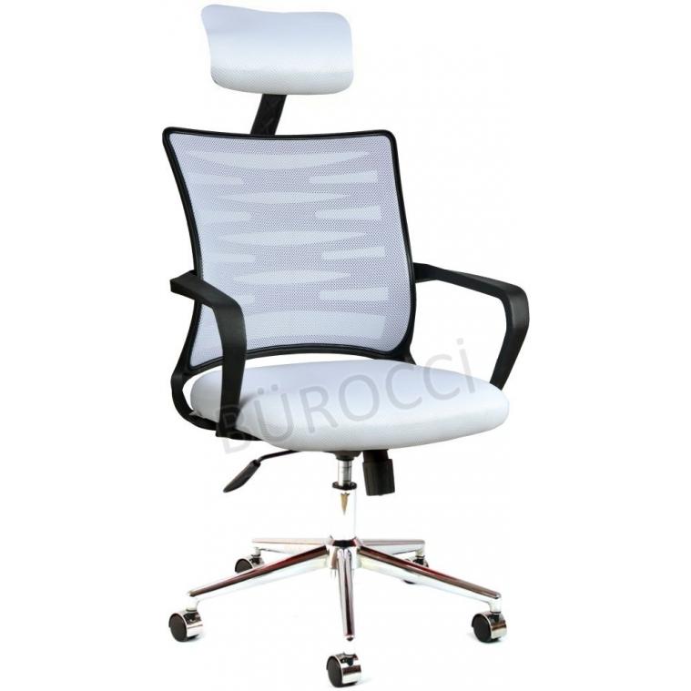 2063D550 - Bürocci Alisa Metal Ayaklı Ofis Koltuğu - Beyaz