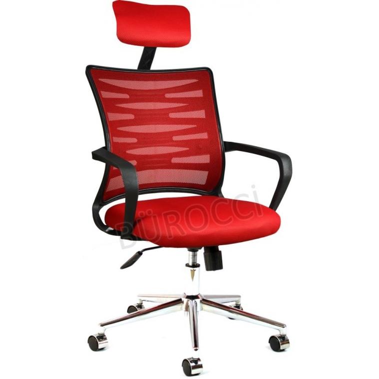 2063D0545 - Bürocci Alisa Metal Ayaklı Ofis Koltuğu - Kırmızı