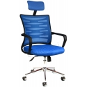 2063D0542 - Bürocci Alisa Metal Ayaklı Ofis Koltuğu - Mavi