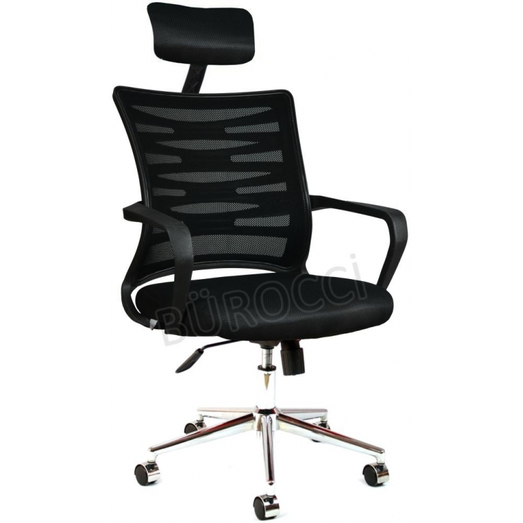 2063D0541 - Bürocci Alisa Metal Ayaklı Ofis Koltuğu - Siyah