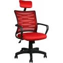 2063C0545 - Bürocci Alisa Plastik Ayaklı Ofis Koltuğu - Kırmızı