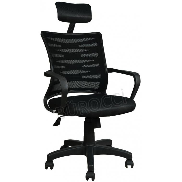 2063C0541 - Bürocci Alisa Plastik Ayaklı Ofis Koltuğu - Siyah